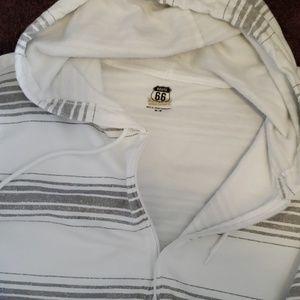 Route 66 Shirts - Mens hooded zip up sweatshirt